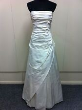 Full length raw silk wedding gown with beaded lace motifs (was $883) MG-2149