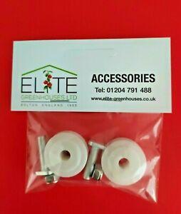 GENUINE Elite 28mm Greenhouse Door Wheels & Fittings - FREE  POST