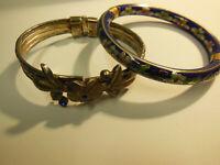 Lot de bijoux 2 Bracelets rigides joncs bijoux accessoires et mode vintage 1990
