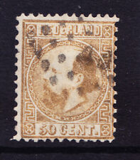 More details for netherlands 1867 sg22 50c gold - tll - p121/2x12 - good to fine used. cat £275