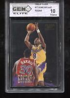 Kobe Bryant RC 1996-97 Fleer #203 LA Lakers Rookie GEM Elite 10 Pristine