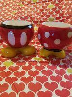 NEW Disney Mickey & Minnie Mouse Ceramic Flower Pots