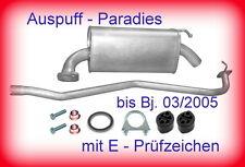 Abgasanlage Auspuff Mazda 6  2.0 (141PS) Typ GG & GY Limo. & Kombi ->03/2005+Kit