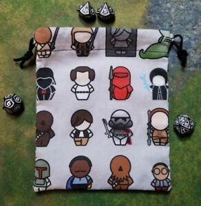Star Wars A Galaxy Far, Far Away Characters dice bag, card bag, makeup bag