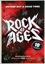 ROCK OF AGES Off-Broadway 10th Anniversary Cast Dot-Marie Jones Signed Poster