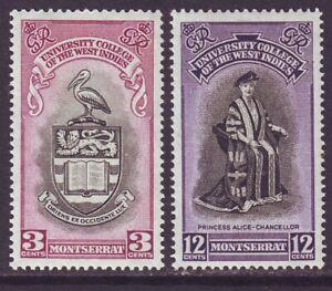 Montserrat 1951 SC 112-113 MNH Set University
