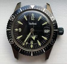Vintage Sheffield Diver Watch 5 ATM Bronze/Green Case