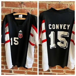 Adidas Vtg rare MLS DC United soccer Bobby Convey jersey mens M