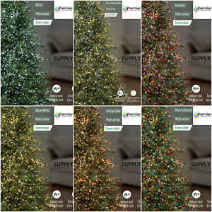 Premier LED Christmas Lights TreeBrights Timer MultiAction Various Sizes Colours