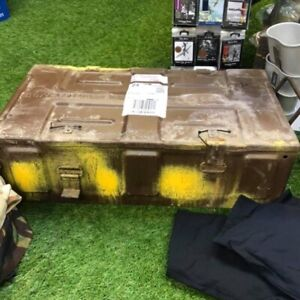 BRITISH ARMY ISSUED 105mm AMMO BOX LARGE METAL STORAGE CONTAINER TOOL BOX