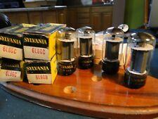 Sylvania 6L6Gc/Gb Power Tubes Quad(4) Nib/Nos-Clean Vintage Audio/Guitar