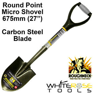"""Roughneck Micro Shovel Round Point 685mm 27"""" Gardening Spade Pointed Digging"""