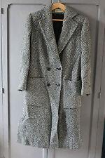 Ancienne veste longue Blanche et noire - T. 40 42 - Jean Bailly - Manteau