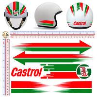 Adesivi casco castrol  sticker helmet motorcycle tuning decal print pvc 10 pz.