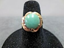 14K Vtg Solid Yellow Gold  Jade Ring Size 6.25 / 3.02 G