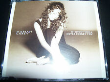 Mariah Carey Without You / Never Forget You Australian CD Single - Like new