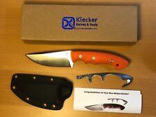 Klecker Abiqua Hunter Fixed Blade Hunting Knife Orange G-10 David Kurt DK-151-GO