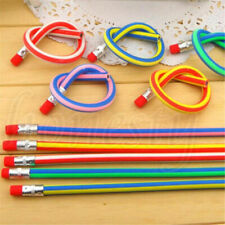 Lots 50x Bendy Flexible Soft Pencil With Eraser For Kids Writing School Student