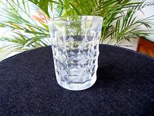 Heisey Grid & Square 8 oz. Clear Flat Tumbler Signed