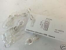 bombilla 12v-10w todos los vidrios T13 13X22mm BLANCO