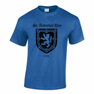 SCOTLAND Men's T Shirt Scottish coat of arms, St Andrew, Patriotic, Independence