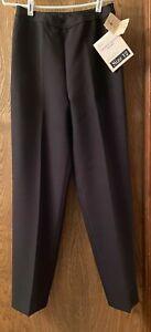 """VINTAGE """"WEINSTOCKS"""" LEVIS BEND OVER DRESSY PULL ON PANTS, BLACK, SIZE 12 SHORT"""