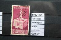 FRANCOBOLLI ITALIA REGNO N° 424 USED USATI (F100152)