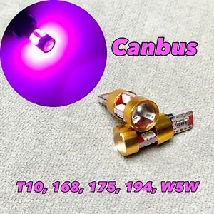 Canbus T10 27 LED Purple Bulb Parking Light W5W 168 194 2825 W1 For Mini E
