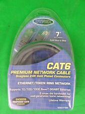 Dynex TE500-07-SGR 7' CAT6 Ethernet Network Cable w/Gold Plated Connectors