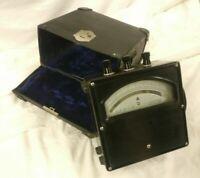 Vintage YEW Yokogawa Electric Works AMMETER AC meter K25080 1000V w/ Case