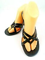 Rampage Mellie Womens Black Strappy 2.75 Heels/Sandals/Thongs Size 9M