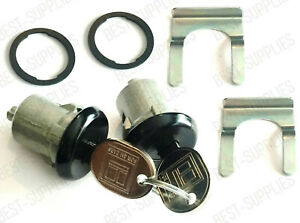 Lockcraft Black Door Lock Cylinder PAIR / FOR LISTED CHEVROLET MODELS