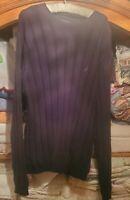 Nautica Mens Size L Black Long Sleeve 100% Cotton Sweater Vintage knit