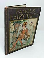 FAMOUS FAIRY TALES Platt & Munk Watty Piper 1928 Antique Eulalie Cinderella