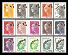TIMBRE 15 TIMBRES MAXI MARIANNES ETOILE D'OR COMPLETE 4662A/4662Q ** cote 150 €