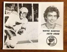 Wayne Babych St Louis Blues Autographed Photo