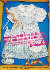 PUBLICITE ADVERTISING   1982   BABYMINI   CATIMINI   vetements enfants