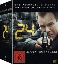 24 DIE KOMPLETTE DVD SEASON 1-8 STAFFEL 1 2 3 4 5 6 7 8 REDEMPTION DEUTSCH