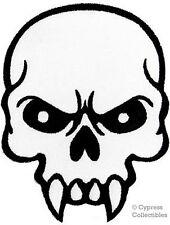 VAMPIRE FANGS SKULL iron-on embroidered PATCH POISON SKELETON 666 EVIL BIKER new