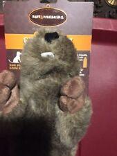 Ruff & Whiskerz Stufferz Dog Toy Pet Chew Toys Dog Crackling Woodchuck