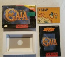 Illusion of Gaia SNES Authentic Box Manual (Explorer's Handbook) and Map NO GAME