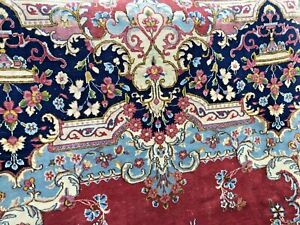 Auth: 50's Vintage Kermin  P E R S I A N  Rug Country French Beauty Rose 8x10 NR
