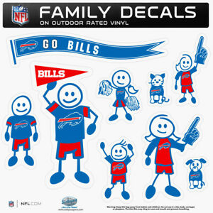 Buffalo Bills Family Decal Set, NFL Licensed Team Stickers