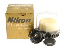 Nikon EL-Nikkor 50mm f/4 Enlarger Lens M39 Cap Keeper Box Dark Room Development