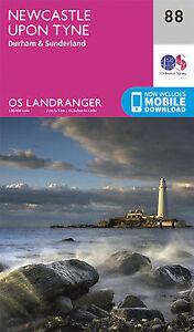 Newcastle upon Tyne Durham & Sunderland Landranger Map 88 Ordnance Survey Latest