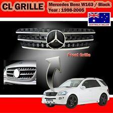 Mercedes Benz ML W163 98-05 Black Grille, W164 Look w/Benz OEM Centre Star Piece