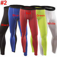 Mens Compression Base Layers Jogging Running Fitness Under Shorts Legging Pants