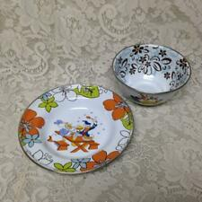 Disney, Donald Duck and Pluto, Childs 2-pc Enamelware Bowl and Plate Set