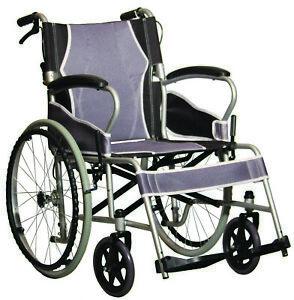 Antar faltbarer Rollstuhl Leichtgewicht extra leicht Sitzbreite 46 cm 130 kg NEU