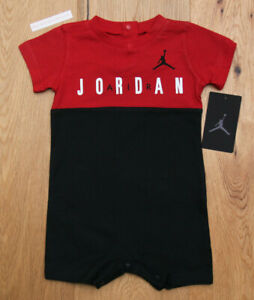 Air Jordan Baby Boy Romper ~ Black, Red & White ~ Jumpman ~